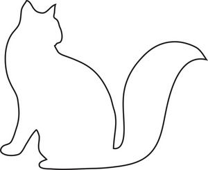 Cat Silhouette Outline (85+) Desktop Backgrounds.