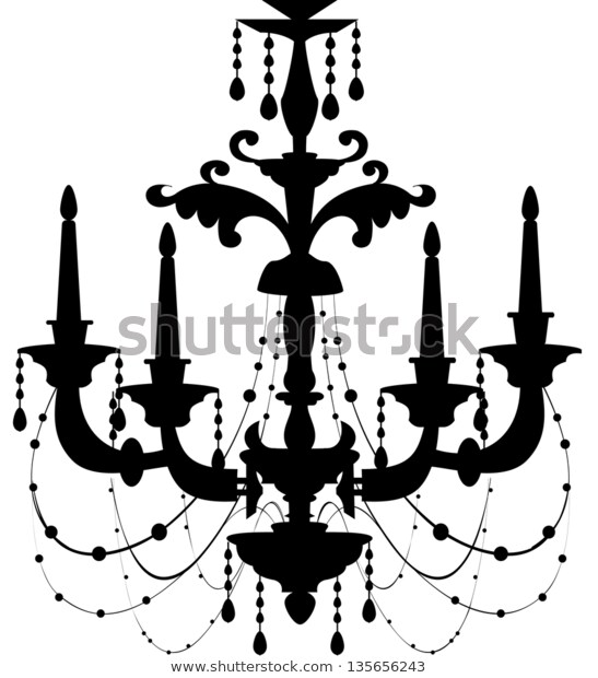 Vector Illustration Chandelier Stock Vector (Royalty Free) 135656243.