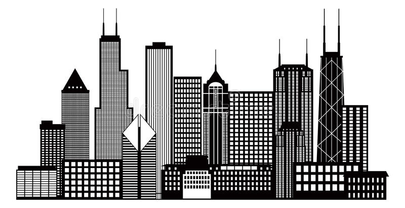 Chicago Skyline Stock Illustrations.