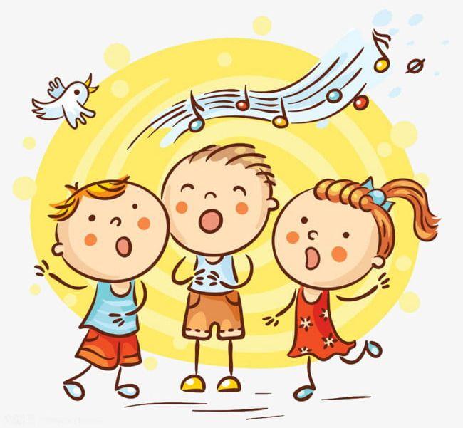 Singing Children's Material PNG, Clipart, Cartoon, Cartoon Kid.
