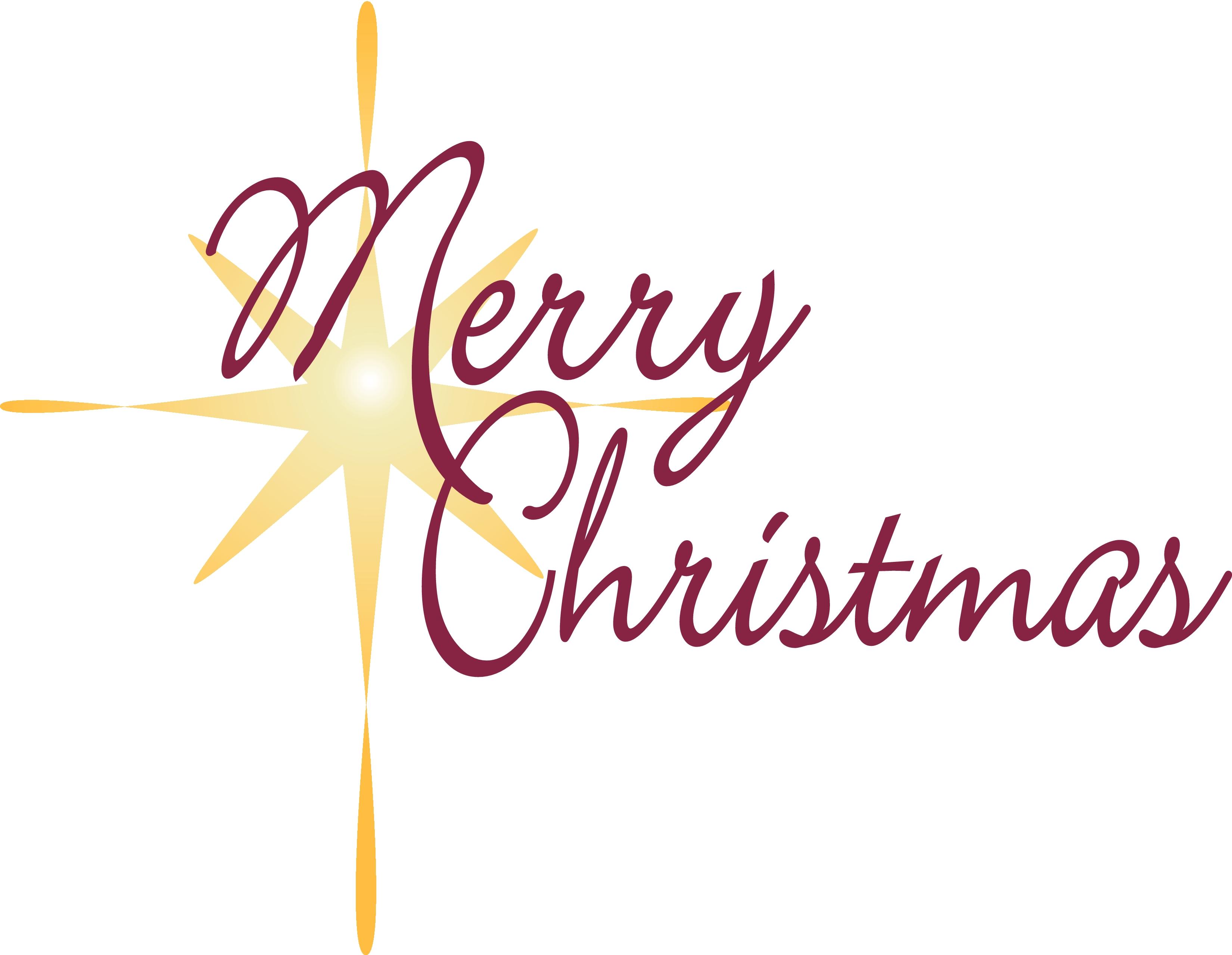 Christian Christmas Word Clip Art free image.