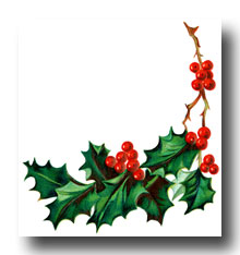 Christmas Holly Clip Art Borders.