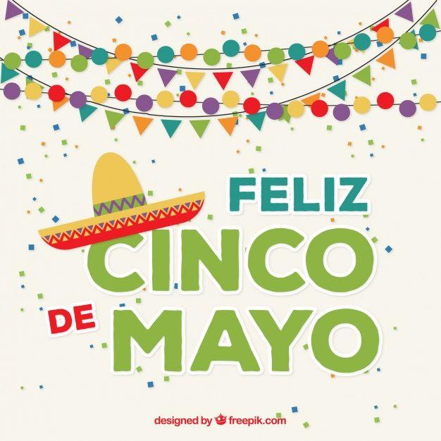 Happy cinco de mayo background with garlands Vector.