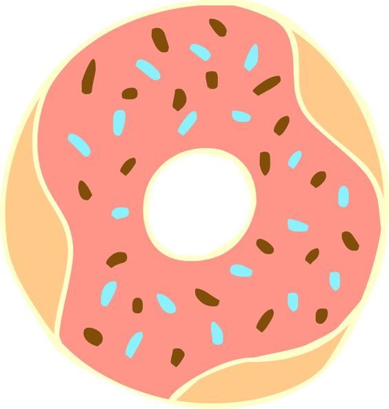 Free clipart images donuts and colors on pinterest.