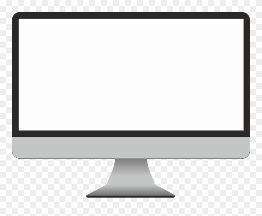Computer With Blank Screen Free Clipart (#1648360).