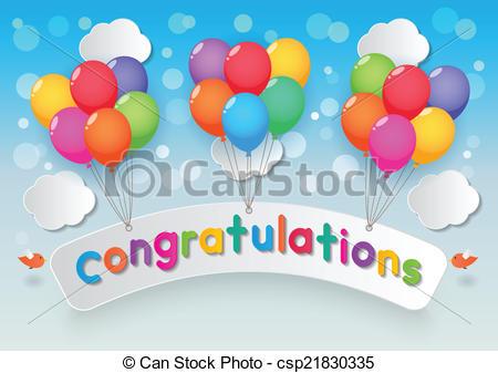 congratulations balloons.