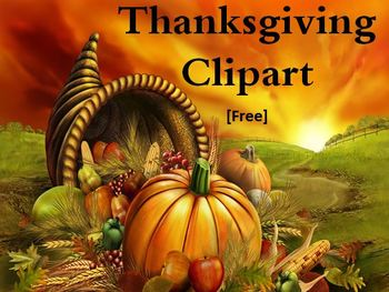 Thanksgiving Day Free Clipart Images (Black by Fun 4 Teachers.