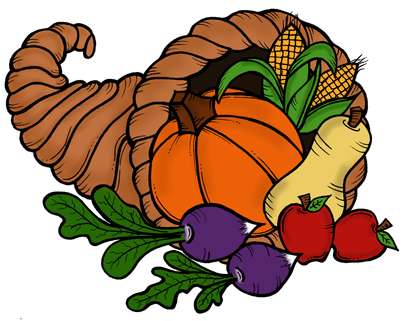 Thanksgiving Cornucopia Clipart.
