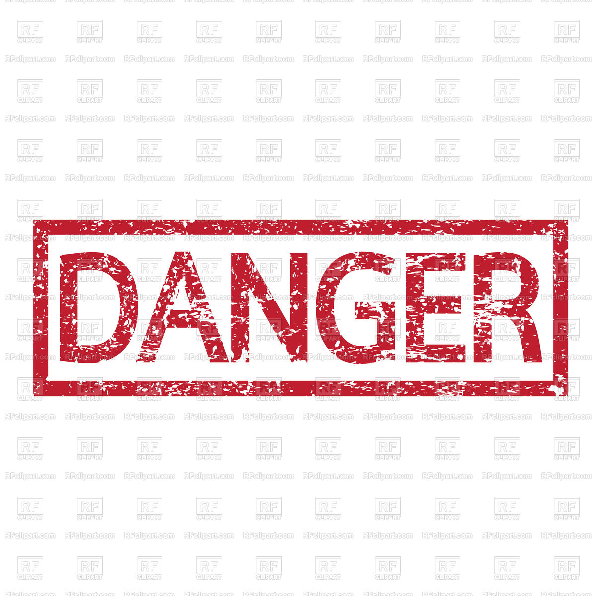 Stamp text DANGER Stock Vector Image.