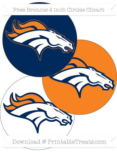 Free Broncos 4 Inch Circles Clipart.