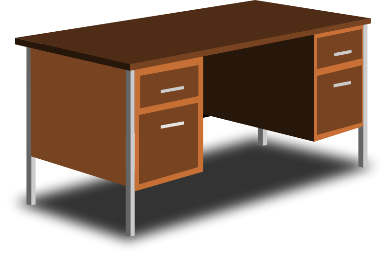 Free Clipart: An Office Desk.