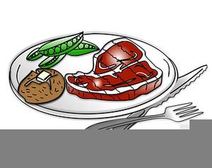 Steak Dinner Clipart.