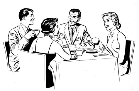 Dinner Party Clip Art.