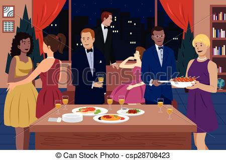 Dinner Party Clip Art & Look At Clip Art Images.