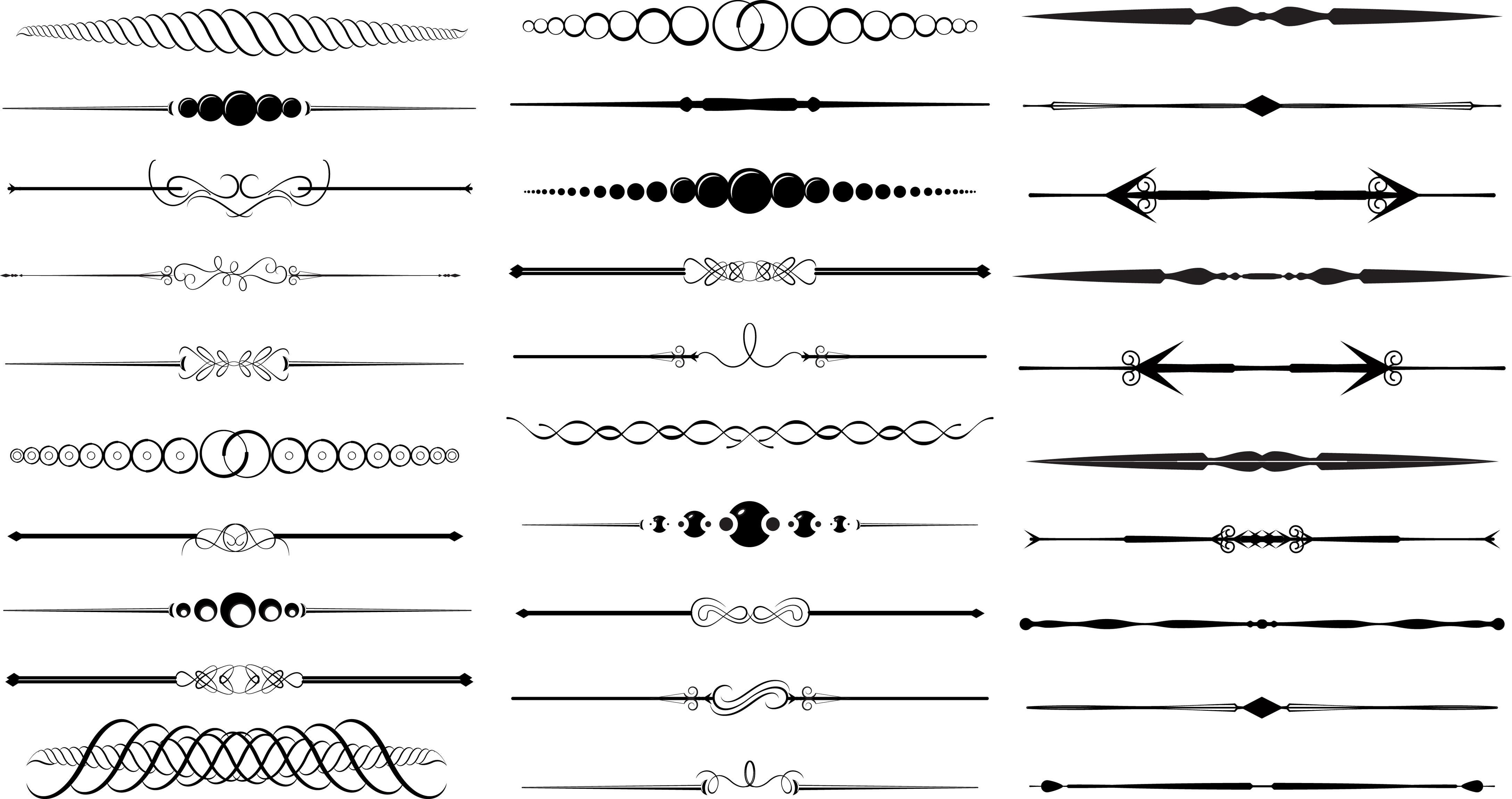 11 Free Vector Decorative Divider Clip Art Images.