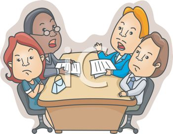 Couple in a Meeting with Their Divorce Attorneys.