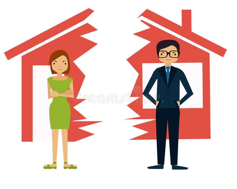 Divorce Stock Illustrations.