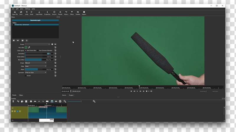 Chroma key VSDC Free Video Editor Video editing software Computer.
