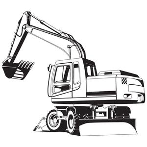 Heavy Excavator Clipart.