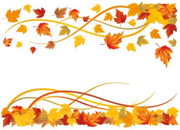 free vector 6 autumn maple leaf border vector.