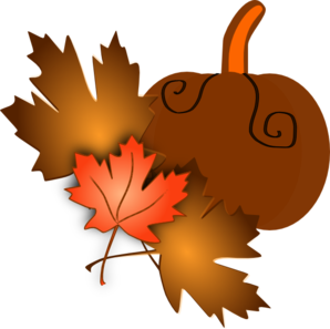 Clipart Of Pumpkins And Leaves.