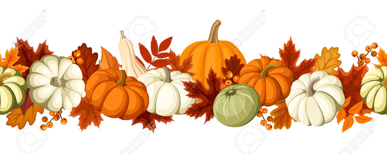 free clip art fall leaves pumpkins - Clipground