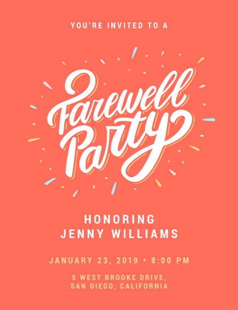 Best Farewell Party Illustrations, Royalty.