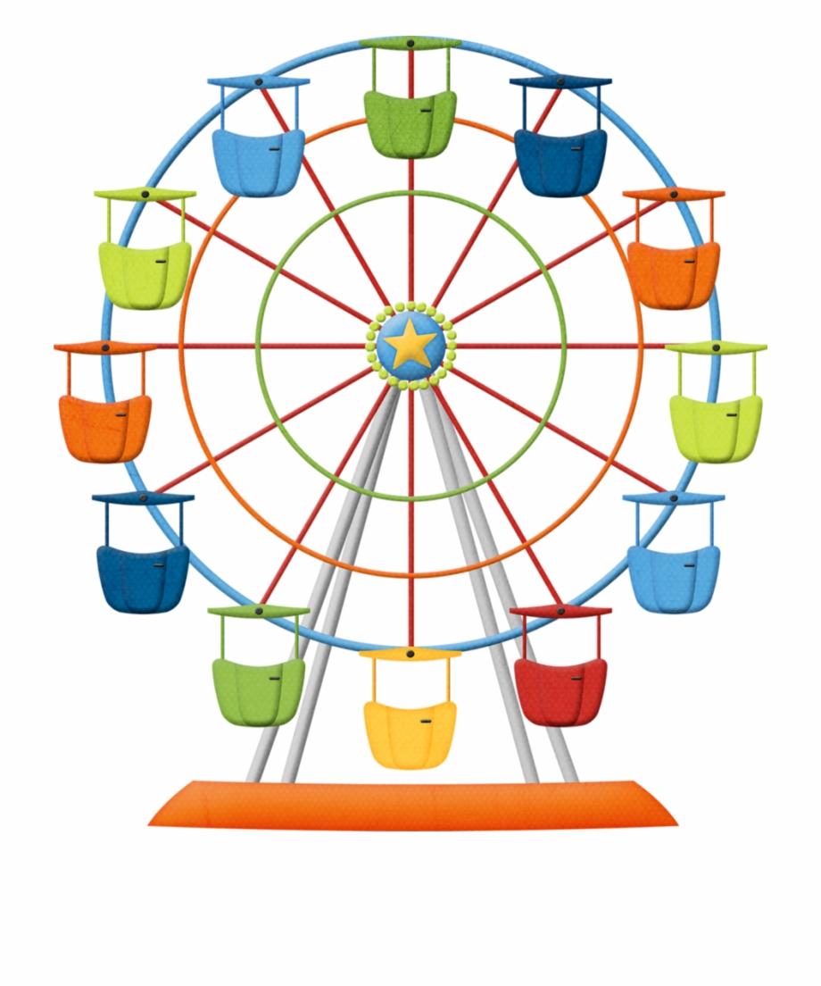 Ferris Wheel, Wheel, Amusement Park, Line Png Image.