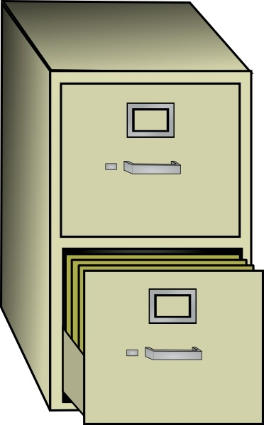 Metal File Cabinet clip art Free vector in Open office drawing svg.