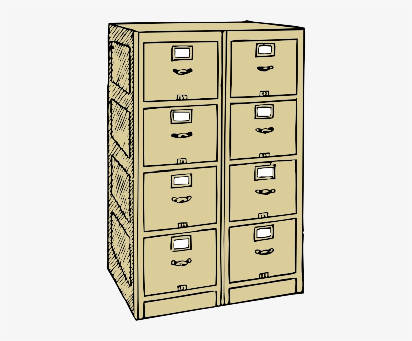 Double Drawer File Cabinet Clip Art.