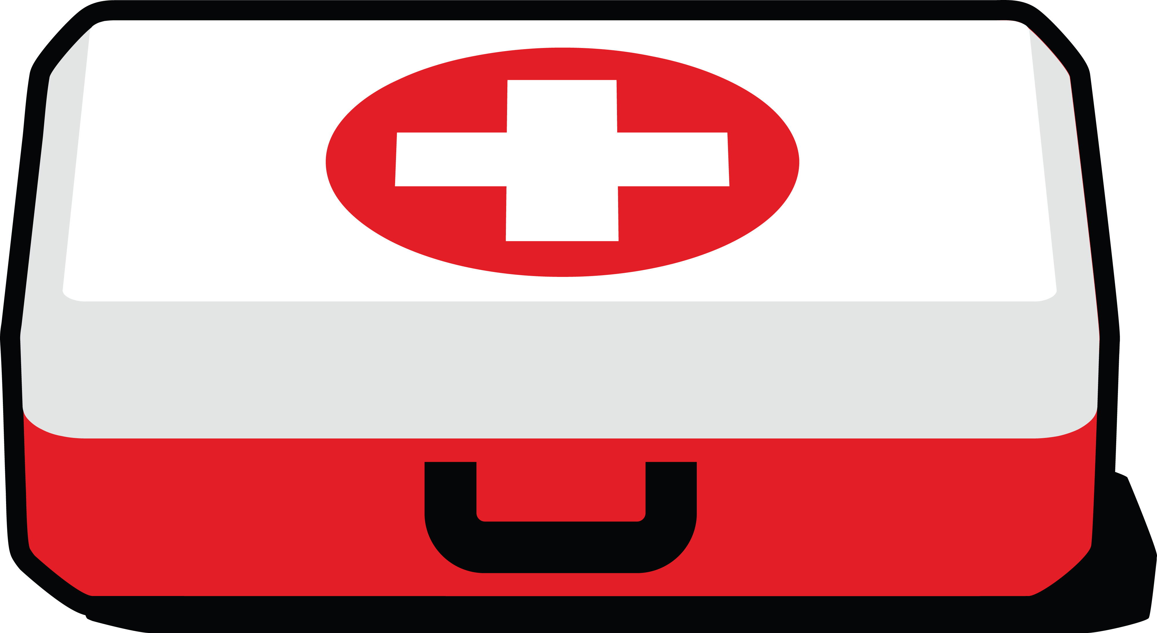 Free Clipart of a First Aid Kit.