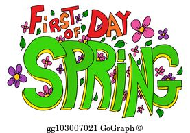 First Day Of Spring Clip Art.