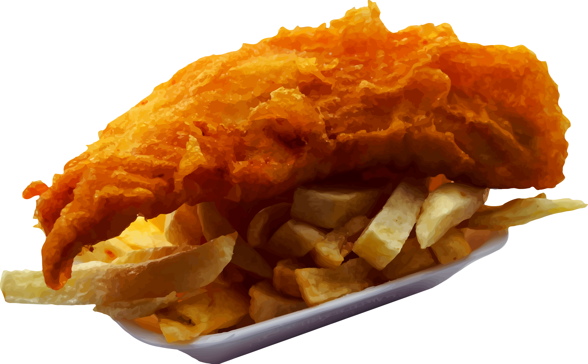 Fish and Chips vector clipart image.