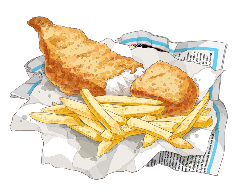 Fish And Chips Clipart & Free Clip Art Images #13493.