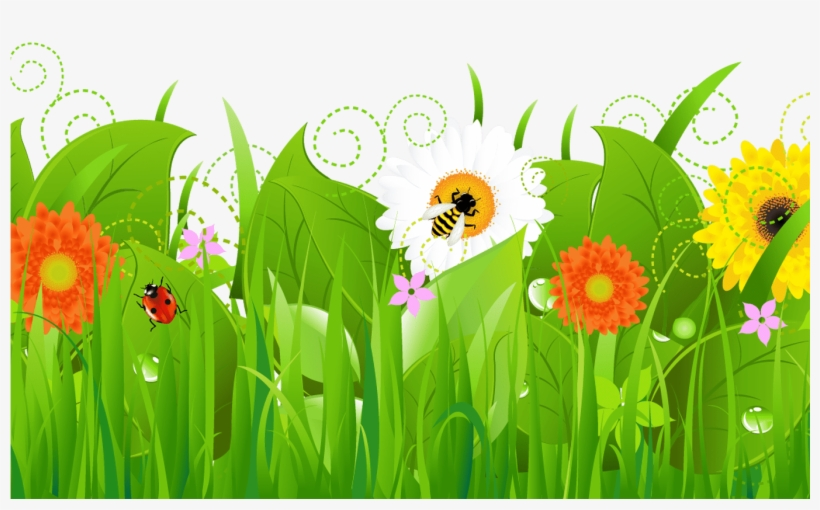 Spring Flower Border Clip Art Gardening Flower And.