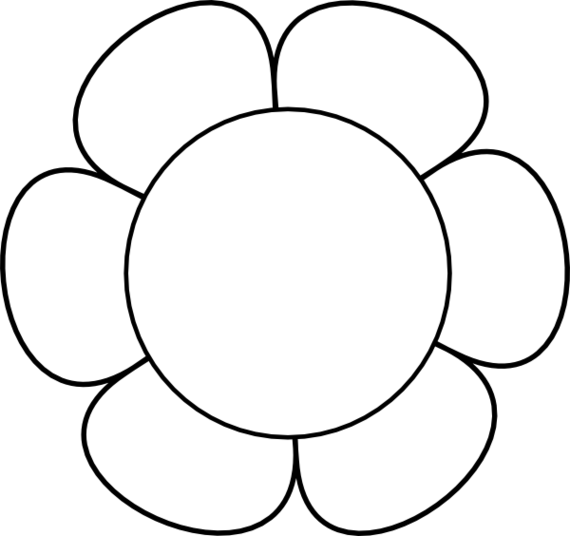 Flower outline clip art clipart images gallery for free download.