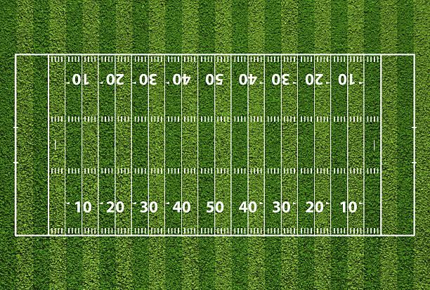Best Football Field Overhead Illustrations, Royalty.