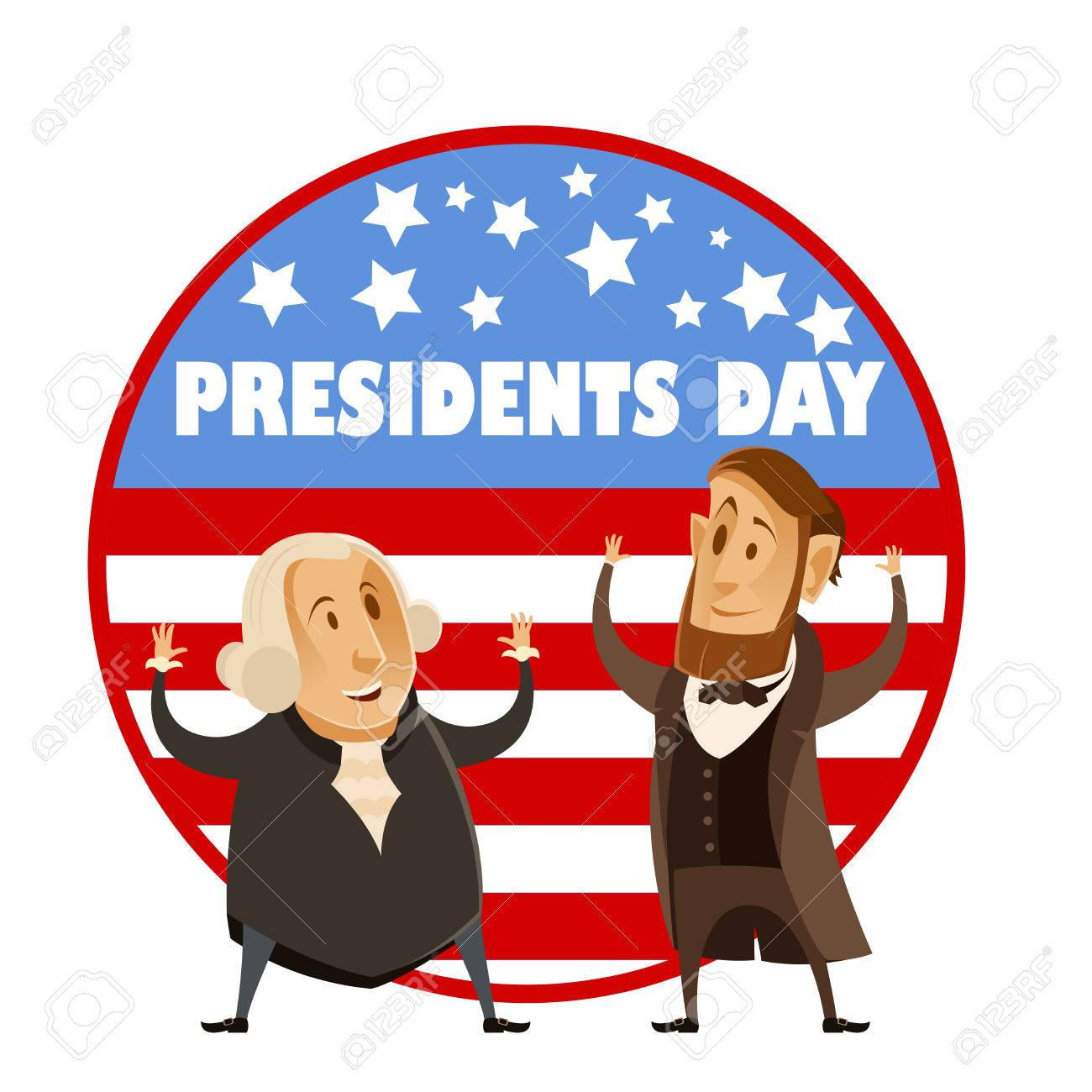 Vector image of the Presidents day banner.
