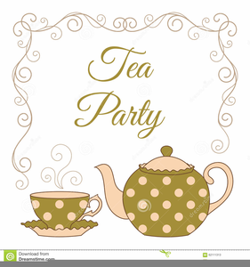 Clipart Tea Party Invitation.