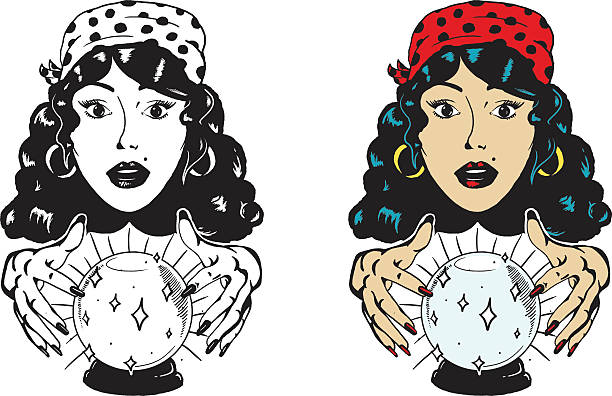 Best Fortune Teller Illustrations, Royalty.