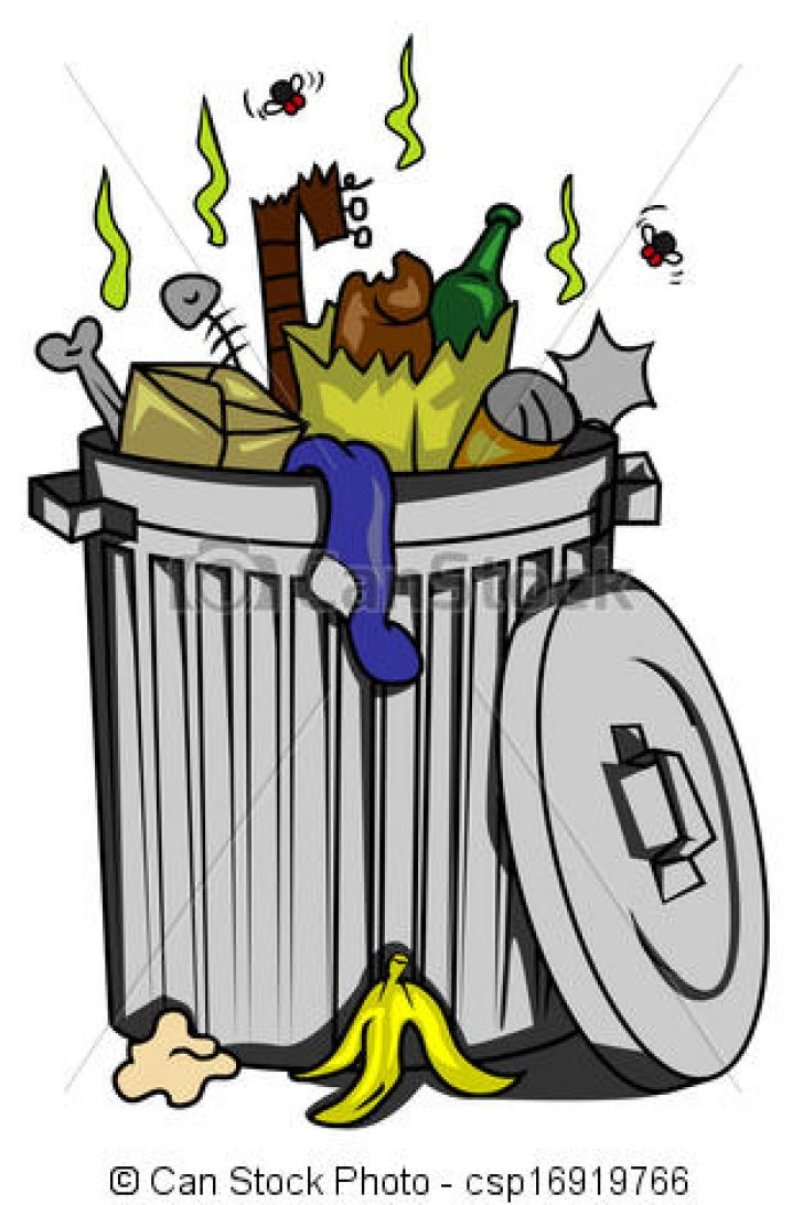 free clip art garbage can.