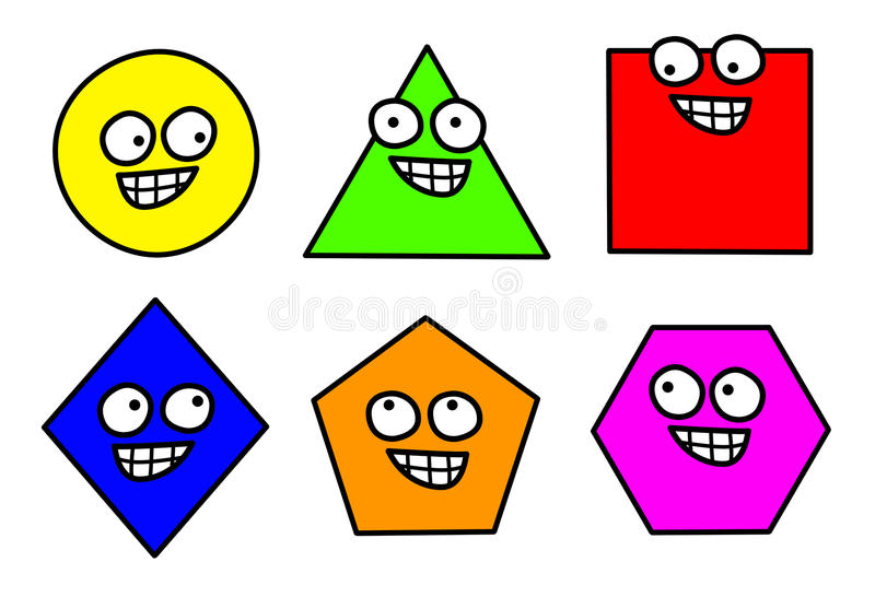 Geometry Shapes Clipart Isolated.