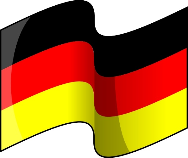 Waving German Flag clip art Free vector in Open office drawing svg.