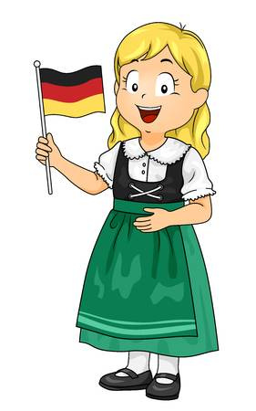 2,540 German Girl Stock Vector Illustration And Royalty Free German.