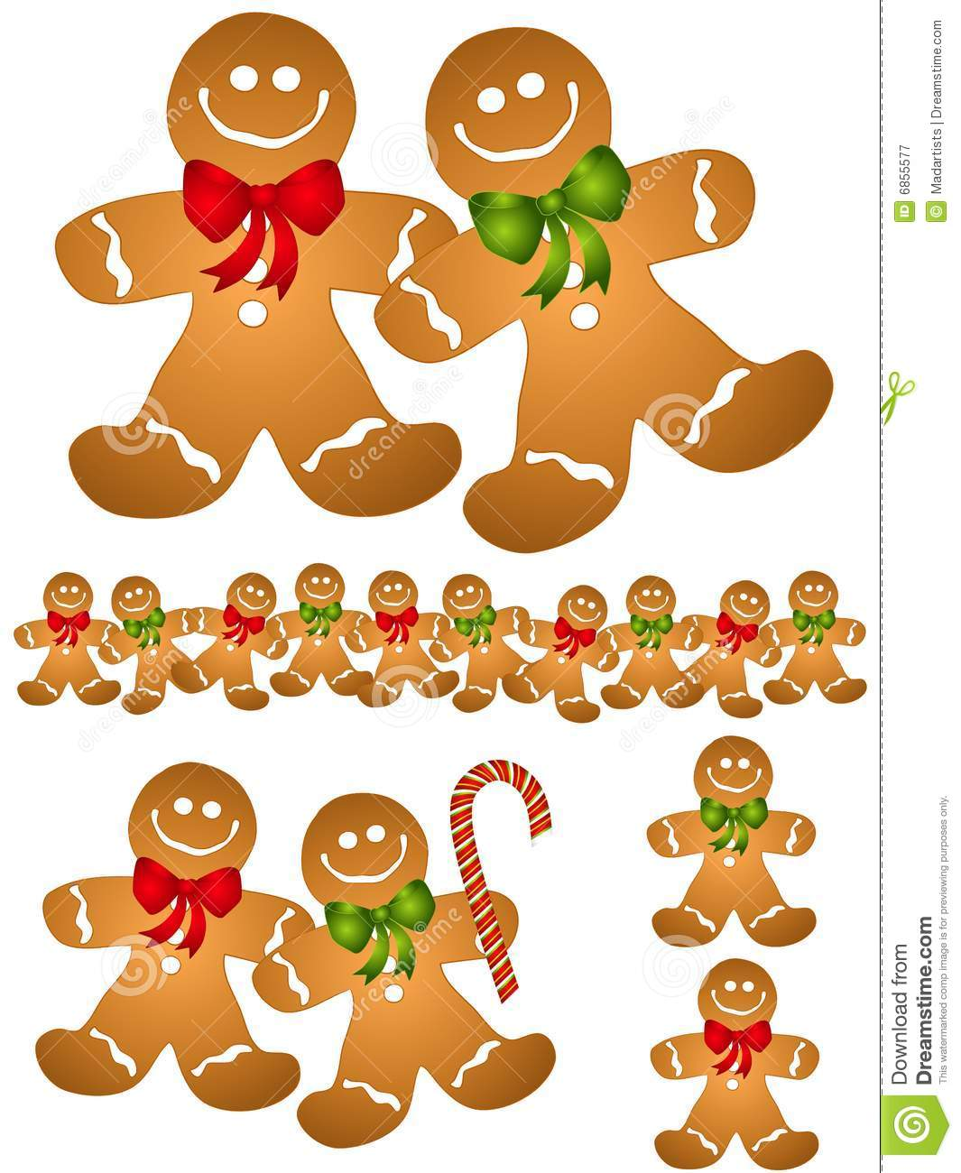 Gingerbread Men Clip Art stock vector. Illustration of christmas.