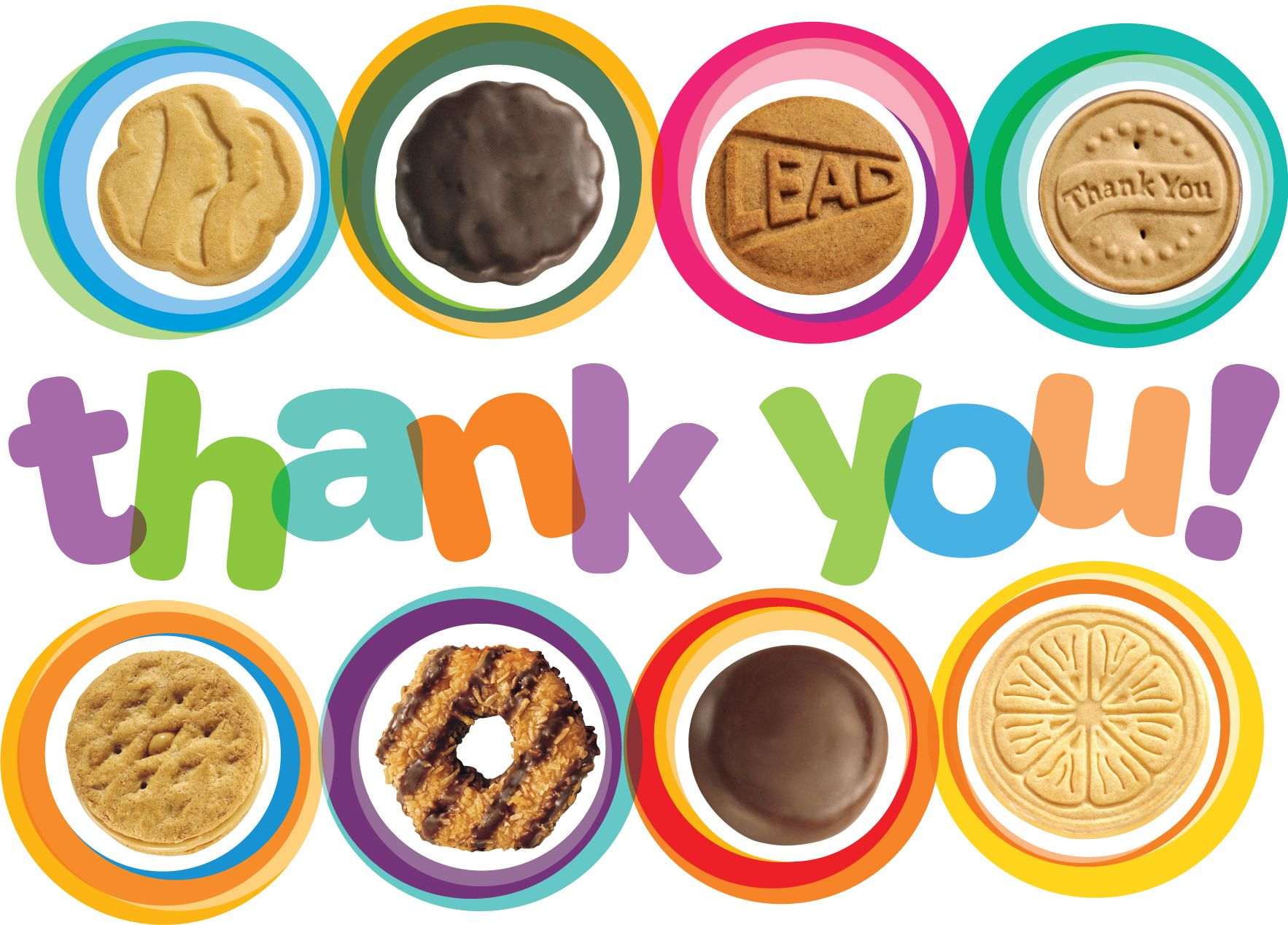 Thank You Cards Girl Scout Cookies Clip Art Clipart.