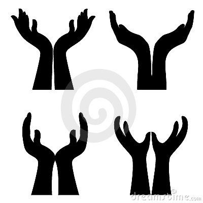 Free Clip Art Giving Hands.