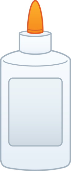 Bottle of Glue Clipart.