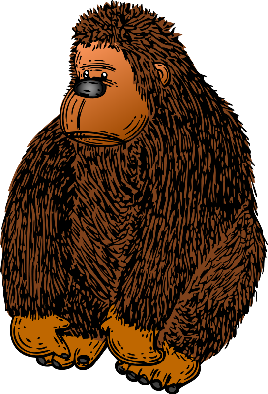 Free Clipart: Gorilla with Colour.