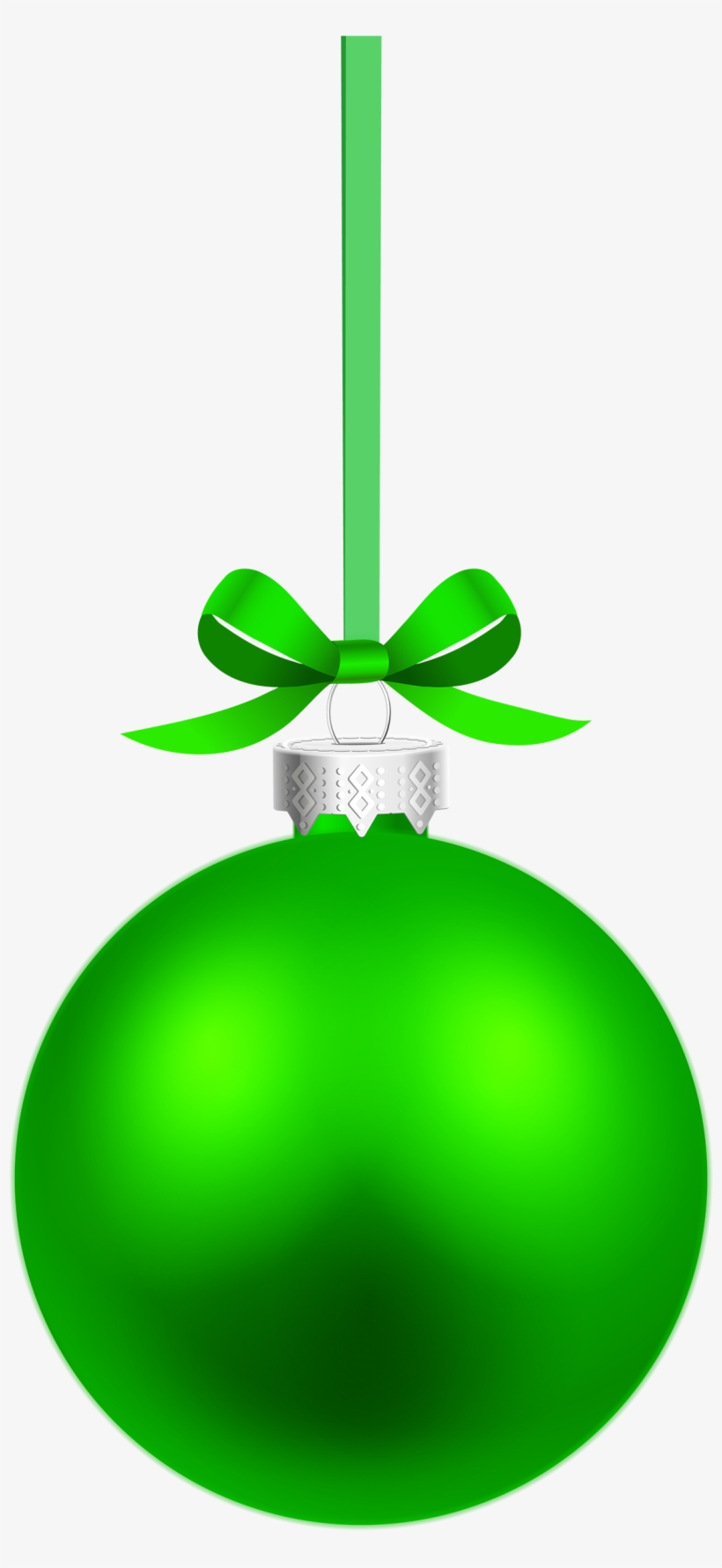 Green Hanging Christmas Ball Png Clipart.